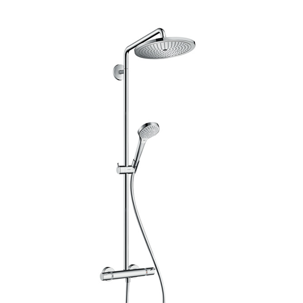 hansgrohe croma select 280 showerpipe air jet baccessory. Black Bedroom Furniture Sets. Home Design Ideas
